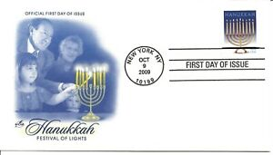 US Scott #4433, First Day Cover 10/9/09 New York Single Hanukkah