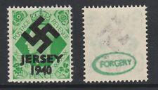 GB Jersey (275) 1940 Swastika Overprint forgey om genuine 7d stamp unmounted