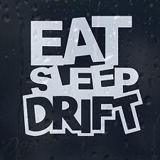 Funny Eat Sleep Drift Car Decal Vinyl Sticker For Bumper Window