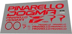 2022 Pinarello DOGMA F bright red DECAL SET