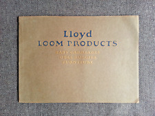 Vintage 1922 Lloyd Loom Wicker Furniture Baby & other Carriages Large Catalog