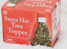 9939e89c0935c Primitive Folk ARt Long Santa Hat Christmas Tree Topper mantle piece 38
