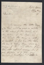 Sir Thomas Lawrence Portrait Painter Signed Letter Regarding Art circa 1820