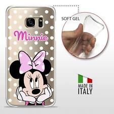 Samsung Galaxy S7 Edge CASE COVER PROTETTIVA GEL TRASPARENTE Disney Minnie Pois