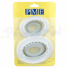 PME Set di 4 Sugarcraft OVALE Plain & Scanalati PLACCA Cutter/attrezzatura per Torta Dec