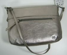 The Sak Oleta Genuine Leather Crossbody Bag Clutch Pyrite Met New NWT $99
