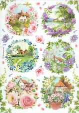 Rice Paper for Decoupage, Scrapbook Sheet, Craft Small Spring Landscapes