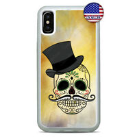 For iPhone Xs Max XR X 8 7 6 Plus 5 Sugar Skull Cover Halloween Phone Case New