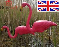Pink Pond Flamingo Plastic Garden Party Ornaments Decoration 80 cm Pair Of 2