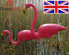 80 cm Pair Of Pink Pond Flamingo Plastic Garden Party Ornaments Decoration