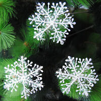 30pcs Christmas Party White Snowflake Charms Festival window Decoration