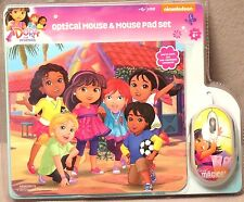 Nickelodeon Dora and Friends USB-Equipped ComputerOpitical Mouse & Mouse Pad Set