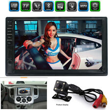 "7"" 2 DIN HD Car Stereo Radio Bluetooth MP5 Player Touch Screen+Rearview Camera"