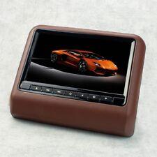 """22,9cm 9"""" Auto Kopfstützen Monitor Display für DVD Player USB SD, braun"""