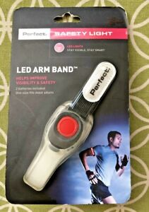 Perfect Fitness  LED Arm Band Safety Light One Size Fits Most Adults NEW!