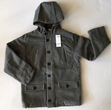 NWT Gymboree Holiday Celebrations Size M 7-8 Gray Hooded Wool Blend Coat