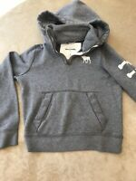 VTG ABERCROMBIE & FITCH Pullover Hoodie Sweatshirt Grey Youth Large