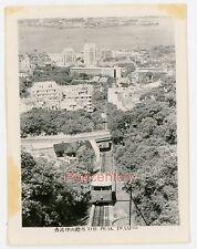 Pre WW2 China Photograph Hong Kong 1930s The Peak Tram Panoramic View Photo