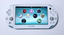 Sony PlayStation Vita PS Vita Light Blue & White PCH-2000 Console 3.65