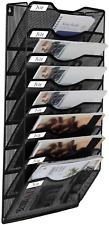 Easypag 8 Pocket Metal Wall File Holder Hanging File Folder Organizer Magazine R