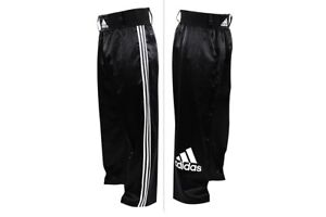 Adidas Kickboxing Pants Adult Satin Martial Arts Trousers Kids Boxing Bottoms