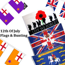 12th Of July Northern Ireland Flags & Bunting - 5x3' 8x5' Table Hand Loyalist