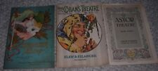 Vintage Lot Of 3 Early Broadway Theatre Programs 1913-14