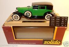 OLD SOLIDO CORD L29 1929 LIMOUSINE VERTE REF 55 MADE IN FRANCE 1/43 IN BOX