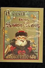 Vintage Paper 1982 Reprint A Visit From Santa Claus Childs Christmas Story Book