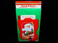 Vintage 1990 Send a Sock Greeting Card w/ Envelope - Fast Free Shipping