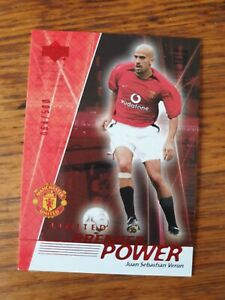 Upper Deck John Sebastian Veron Man United -Limited Premier Power 064/500 RED