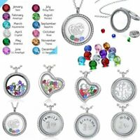 Fashion Living Memory Floating Locket Charms Pendant Necklace Chain Jewelry Gift