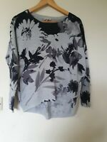 Phase Eight Relaxed fit Floral Ribbed Jumper Top Size 8
