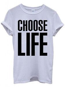 Choose Life T-Shirt Inspired By Wham! Fancy Dress T-Shirt