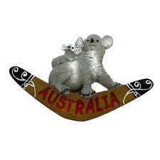 Australia Koala with Joey Aussie Boomerang Large 3D Fridge Magnet Souvenir NEW