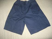 Cintas Women's Pleated Uniform Dark Blue Shorts, Size Small