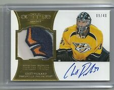 2012-13 Panini Prime Dominion Peerless Patches Autograph CHET PICKARD #9/40