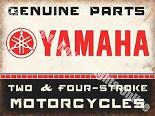 Yamaha Classic 70's Retro Motorcycle, Bike 106 Old Garage, Small Metal Tin Sign