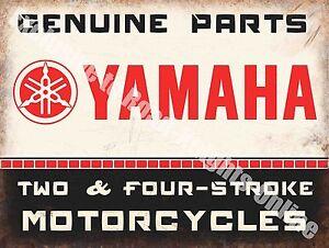 Yamaha Classic 70's Retro Motorcycle, Bike 106 Old Garage, Small Metal Tin Sign