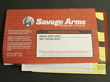 factory original Savage Arms Axis Bolt Action rifle owners manual