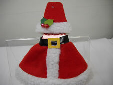 WINE BOTTLE Wrap Decoration*Red Mrs Santa Suit*Hat*Boots*Holiday Gift~FREE SHIP~