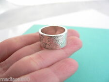 Tiffany & Co Sterling Silver Wide Notes Ring Band Sz 5.75