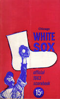 1963  baseball program, Chicago White Sox vs. Kansas City A's, unscored