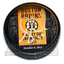 Gregory Campbell Boston Bruins Signed Stanley Cup Champions Banner Puck