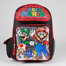 "Super Mario Luigi Dream Team School 16"" Backpack BRAND NEW"