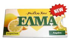Greek Mastic Chewing Gum with Lemon ELMA Sugar free ( 3 Packages x 10 tablets )