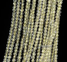 3MM LEMON QUARTZ GEMSTONE YELLOW TRANSLUCENT ROUND 3MM LOOSE BEADS 16""