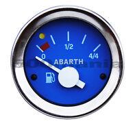 STRUMENTO LIVELLO BENZINA FIAT 500 F/L/R e FIAT 126 - BLU Ø 52 mm - LOGO ABARTH