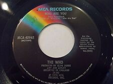 The Who Who Are You / Had Enough 45 1978 MCA Pete Townshend Vinyl Record