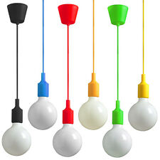 TOP Lampe Farbe Rot Blau Kinder Pendelllampe Deckenlampe Hängeleuchte LED E27